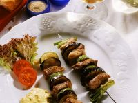 Pork Skewers with Mustard Sauce recipe