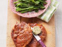 Pork Steak with Green Beans recipe