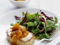 Pork Steak with Mango Chutney and Salad recipe
