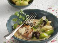 Pork Tenderloin with Morel Sauce and Asparagus recipe