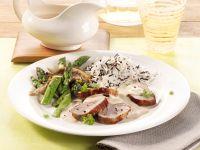 Pork Tenderloin with Mushroom Sauce and Asparagus recipe
