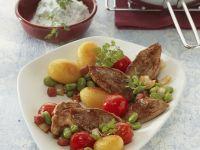 Pork Tenderloin with Potatoes and Chervil Cream
