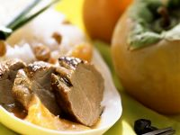 Pork with Fragrant Rice and Persimmon Sauce recipe