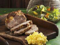 Pork with Mashed Rutabagas recipe