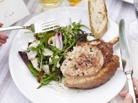 Pork with Mixed Leaf Salad
