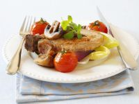 Pork with Mushrooms, Onions and Tomatoes recipe