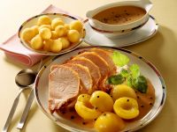 Pork with Peach and Pickled Pepper recipe