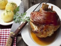 German Pork with Savoury Potato Balls recipe