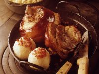 Pork with Potato Dumplings and Sauerkraut recipe