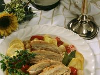 Pork with Potatoes and Peppers recipe
