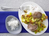 Pork with Pumpkin, Apples and Vegetables