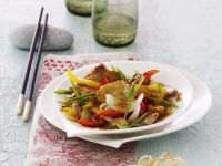 Pork with Vegetables in Sweet and Sour Sauce recipe