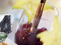 Port Wine Whip on Melon Puree recipe