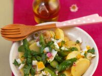 Potato and Asparagus Salad with Hard-boiled Eggs recipe