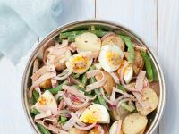 Potato and Bean Salad with Hard-Boiled Eggs recipe