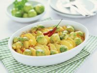 Potato and Brussels Sprout Casserole recipe