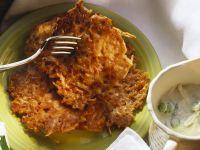 Potato and Celery Pancakes recipe