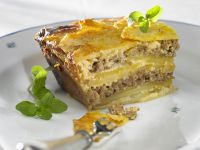Potato and Ground Meat Gratin recipe
