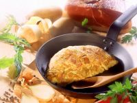 Potato and Ham Omelet recipe