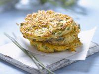 Potato and Kohlrabi Fritters recipe