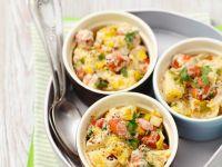 Potato and Leek Dish with Sausages recipe