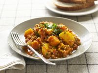 Potato and Lentil Curry recipe