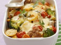 Potato and Meatball Casserole recipe