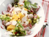 Potato and Rdish Salad with Yogurt Dressing recipe