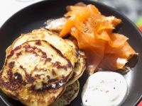 Potato Blinis with Salmon recipe
