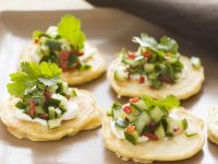 Potato Blinis with Salsa recipe