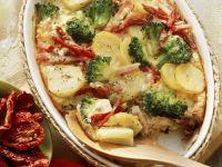Potato-broccoli Gratin with Smoked Pork recipe