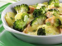 Potato-broccoli Gratin with Smoked Salmon recipe