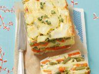 Potato, Carrot and Green Bean Quiche recipe