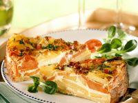 Potato, Carrot and Ham Quiche recipe