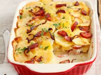 Potato Casserole with Onions and Cabanossi Sausages recipe