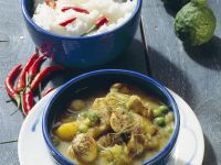Potato Curry with Peas and Mushrooms recipe