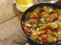 Potato Dish with Mushrooms and Bacon recipe