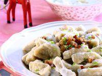 Potato Dumplings with Bacon and Onion recipe