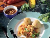 Potato Dumplings with Bacon Sauce recipe