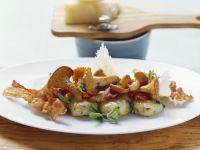 Potato Gnocchi with Chanterelles and Bacon recipe