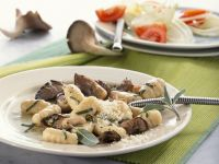 Potato Gnocchi with Oyster Mushrooms and Sage recipe