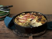 Potato Gratin with Bacon and Cabbage recipe
