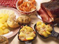 Potato, Ham, and Muenster Gratins recipe