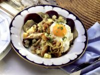 Potato Hash with Smoked Fish and Fried Egg recipe