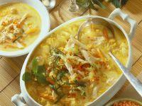Potato-Lentil Soup with Chicken recipe