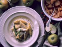 Potato Noodles with Fruit Compote recipe