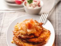 Potato Pancakes with Apple Compote recipe