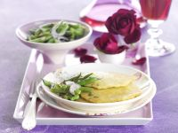 Potato Pancakes with Green Bean Salad recipe