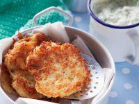 Potato Pancakes with Herb Quark and Applesauce recipe