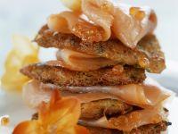 Potato Pancakes with Smoked Salmon and Salmon Caviar recipe